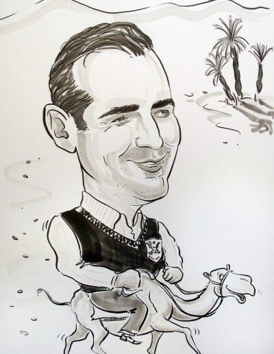 Beispiel für eine Karikatur nach Foto